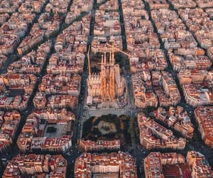 city, Barcelona, and spain image