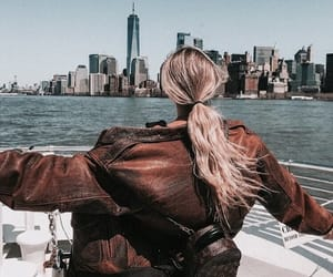 blonde, girl, and new york image
