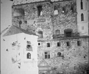 black and white, castle, and fekete fehér image