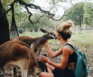 animal, girl, and nature image