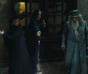 albus dumbledore, harry potter, and minerva mcgonagall image