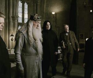 albus dumbledore, minerva mcgonagall, and severus snape image