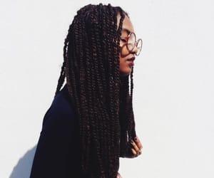 girl, beautiful, and braid image