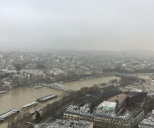 foggy, paris, and eifel tower image
