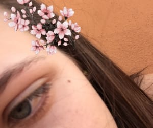 aesthetic, blue eye, and brown hair image