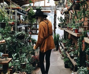 plants, girl, and green image