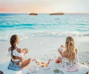 beach, food, and summer image