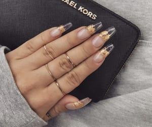 nails, gold, and Michael Kors image