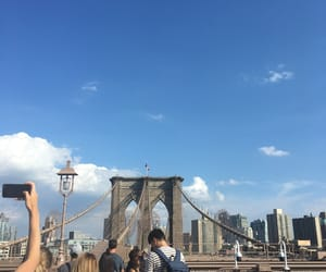 Brooklyn, brooklyn bridge, and clouds image