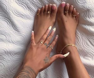 bracelet, feet, and gold image