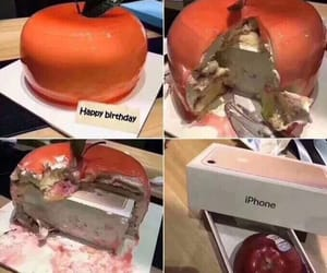 funny and apple image