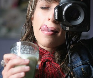 camera, milk, and girl image
