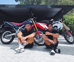 ethan, grayson, and motorbikes image