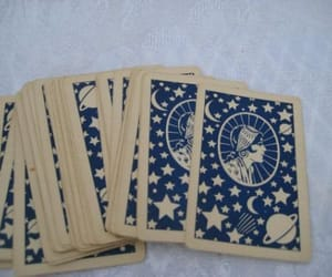 cards, blue, and tarot image