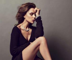black, brunette, and dress image