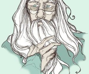 albus dumbledore, harry potter, and deathly hallows image