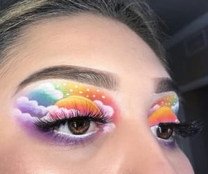 beautiful, colorfull, and makeup image