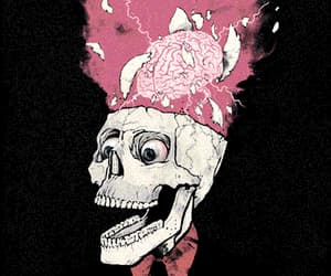 skull, brain, and pink image