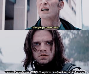 bucky, cap, and chris evans image