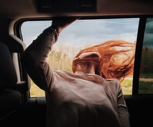 car, nature, and girl image