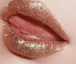 lips, glitter, and aesthetic image