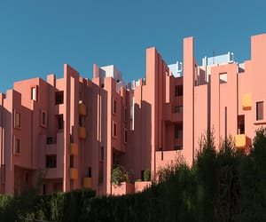 aesthetic, city, and pink image
