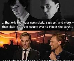 sherlock holmes, tom hiddleston, and Marvel image