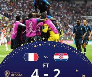 france, Croatia, and football image