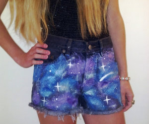 galaxy, shorts, and galaxy shorts image