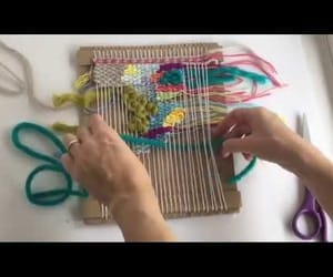 video, fibre art, and weaver image