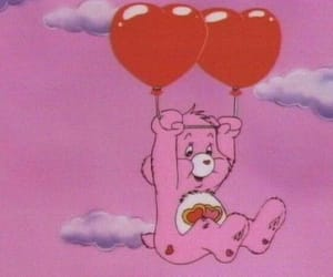 pink, bear, and cartoon image
