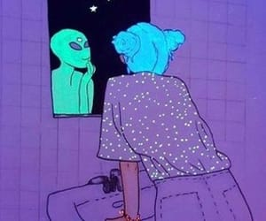 alien, blue, and bohemian image