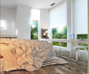 3d, bedroom, and book image