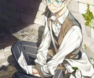 anime, blue eyes, and boy image