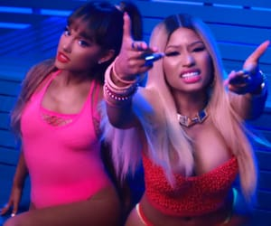 ariana, grande, and nicki minaj image