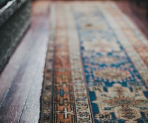 interior, rug, and rustic image