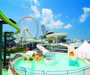 ferris wheel, usa, and raging waters image