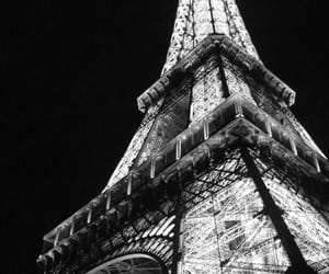 black, tower, and eifel image