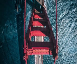 aerial photography, bridge, and aerial view image
