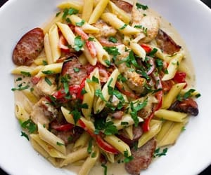 delicious, lunch, and pasta image