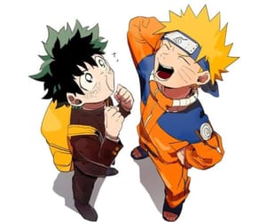 naruto, boku no hero academia, and deku image