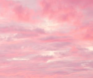 clouds, pink, and cotton candy image