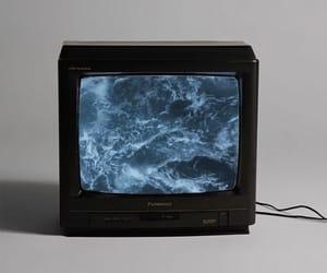 tv, sea, and grunge image