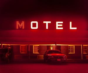 red, aesthetic, and motel image