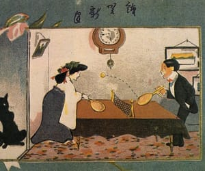 1920s, black cat, and japan image