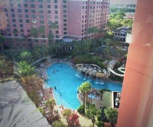 florida, hotel room, and pool image