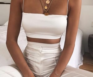 clean, necklace, and satin image