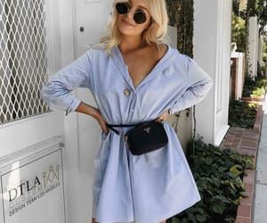 baby blue, dress, and fashion image