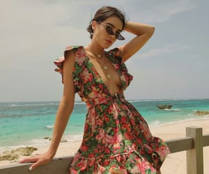 fashion, floral dress, and Hot image