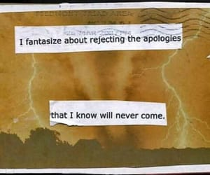 apologies, fantasize, and will never come image
